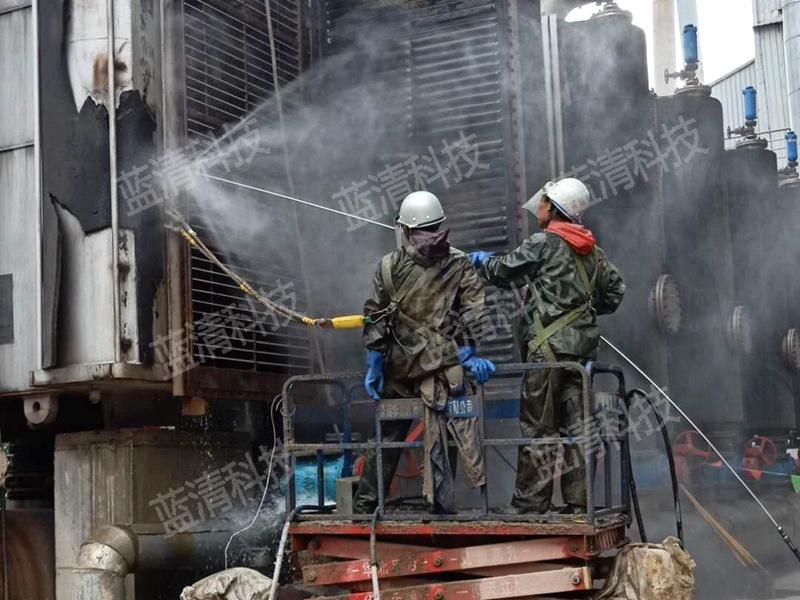 炼铁厂冲渣水换热器高压水清洗